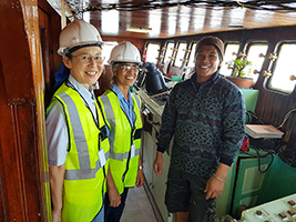 Srs Akiko and Vimala ship visiting in Cape Town