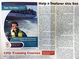 Sea Sunday 2017 article in Cape Town Archdiocese newspaper