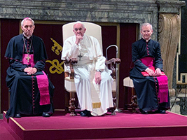 Pope Francis at the Papal Audience for Stella Maris European Regional Chaplains