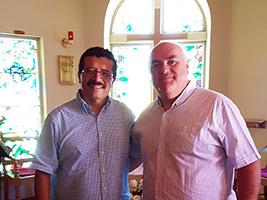 AoS Cape Town port chaplain Fr Gerardo Garcia and AoS cruise chaplain Fr David Gamble