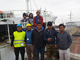 Fr Gerardo visits seafarers at Cape Town