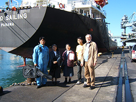 Fr Hubert with seafarers
