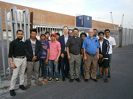 John Green AoS GB development director with port chaplains and ship visitors from AoS South Africa